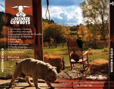 Contraportada Western Etilico Drunken Cowboys