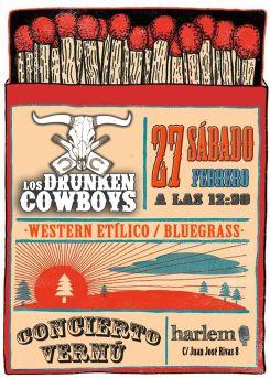 Vermú Los Drunken Cowboys 27/02/16 el Harlem