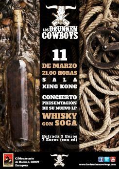 presentación 2º Cd Los drunken cowboys Sala King Kong