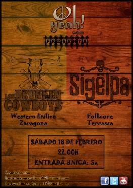 Los Drunken Cowboys + Sigelpa, Sala Oh Yeah, Lleida